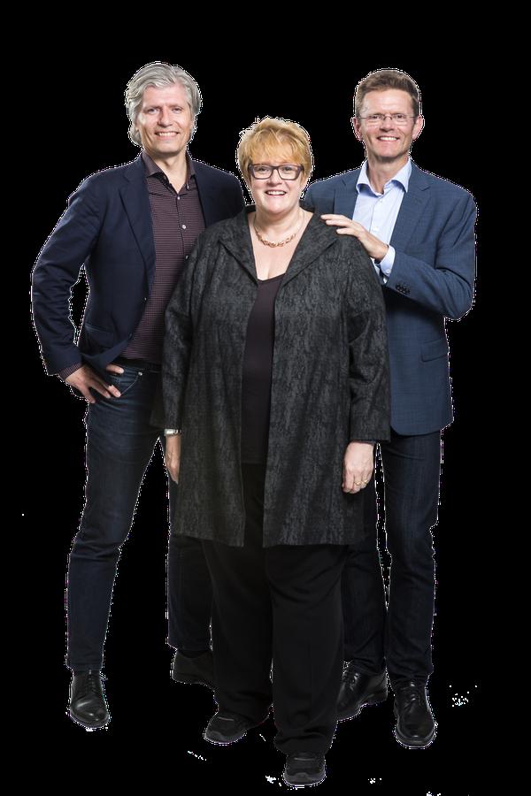Venstres ledertrio: Trine Skei Grande, Ola Elvestuen, Terje Breivik