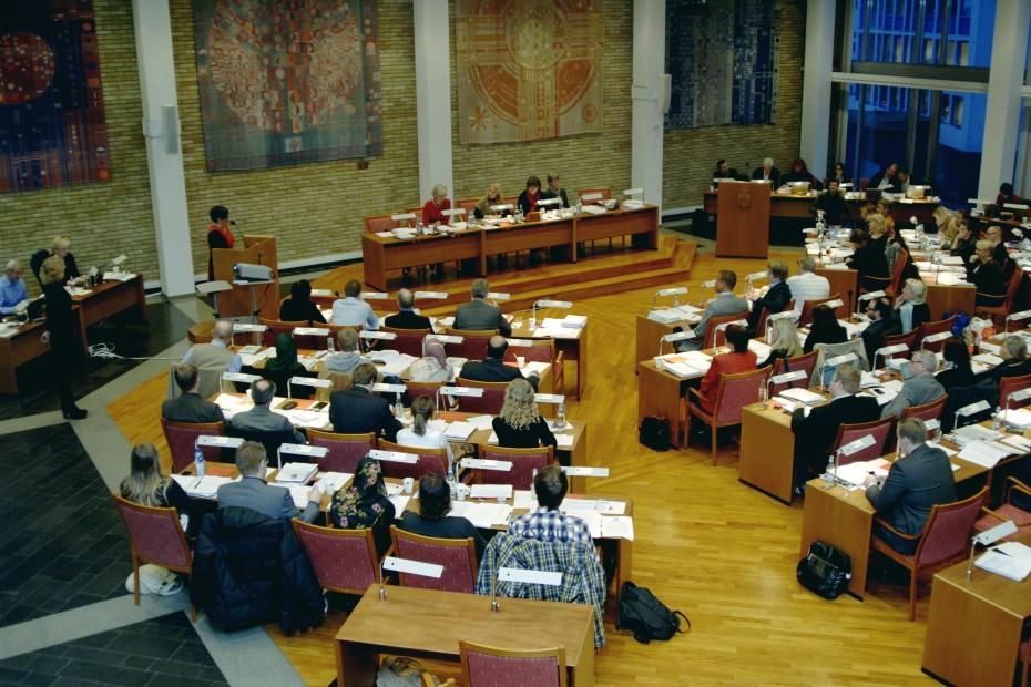 Bystyresalen og bystyret i Stavanger