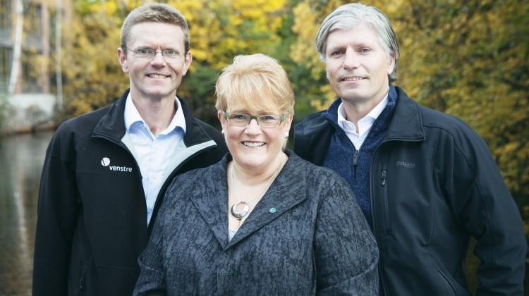 Trine Skei Grande, Ola Elvestuen og Terje Breivik