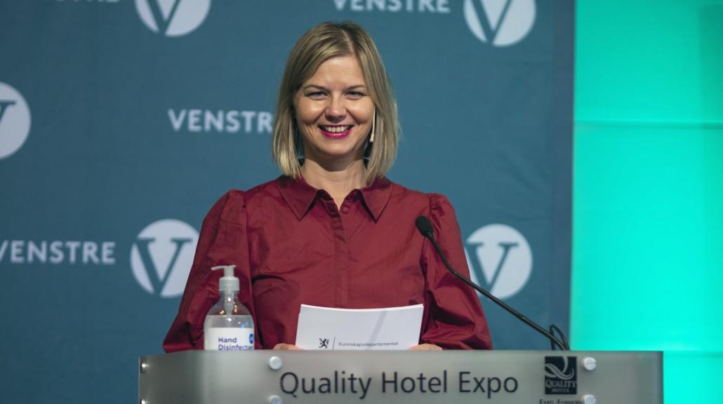 Guri Melby tale til Venstres landsstyre