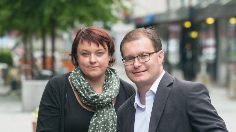 Venstres to kommunestyrerepresentanter: Margrethe Prahl Reusch og varaordfører Boye Bjerkholt