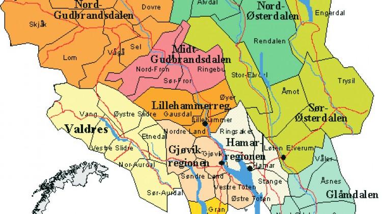 kart oppland Regionreformen må fylles med innhold   Oppland Venstre kart oppland