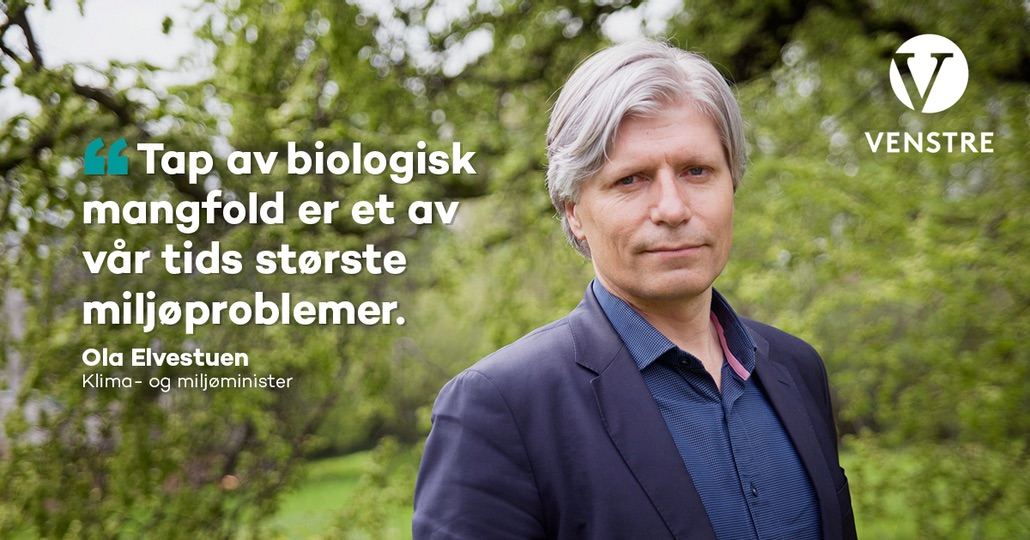 Bilde - portrett- miljøvernminister Ola Elvestuen