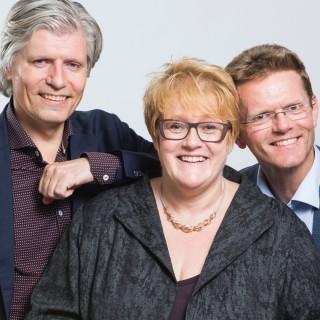 Venstres ledertrio: Trine Skei Grande, Ola Elvestuen og Terje Breivik
