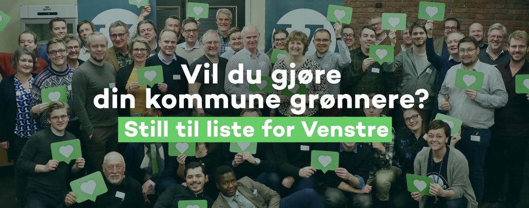 Vil du stå på liste for Venstre? Klikk her for å registrere deg.