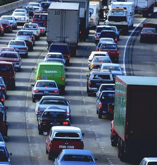 Trafikk, vei, kø
