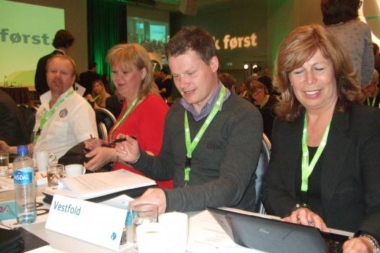 Fra v.: Trygve Storrønningen, Helene Eriksen, Per Martin Berg og Karin Virik