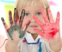 Barn, kreativ, skole