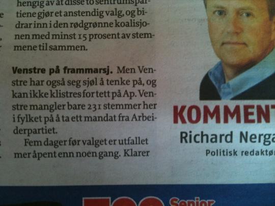 Neergård kommentar i Romsdals Budstikke