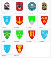 Vestfolds kommunevåpen