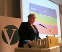Trine Skei Grande la bl.a. fram Venstres klimamelding under sin tale til landsstyret lørdag 3. desember.