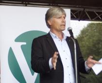 Ola Elvestuen på Venstres valgkampåpning i Oslo 2011