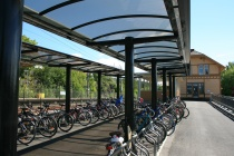 Sykkelparkering ved Lørenskog stasjon