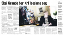 Trine Skei Grande i Vårt Land 09.03.13.